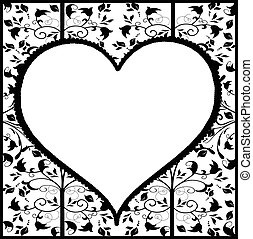 ouderwetse , hart, ornament