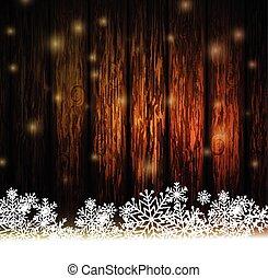 ouderwetse , hout, kerstmis, achtergrond