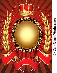 ouderwetse , mal, achtergrond, kroon
