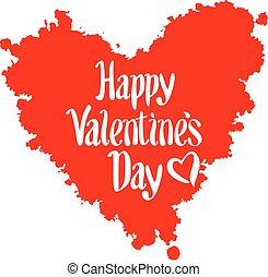 ouderwetse , valentines dag, achtergrond, lettering