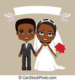 paar, black , trouwfeest