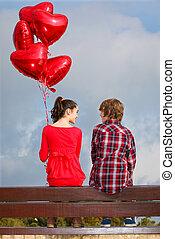 paar, valentines dag