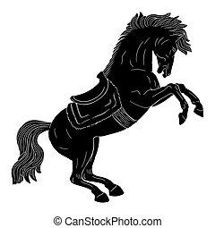paarde, saddle.