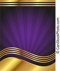 paarse , elegant, goud, achtergrond