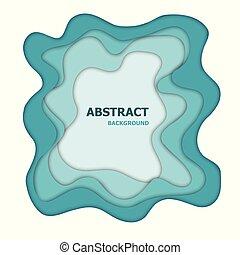 papier, abstract, knippen, groene achtergrond