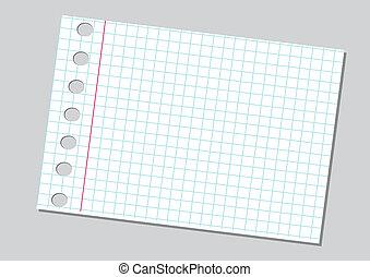 papier, achtergrond, aantekenboekje