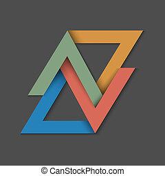 papier, achtergrond, driehoeken, minimalistic