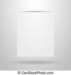 papier, achtergrond, grijze , blad, witte , schaduw