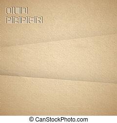 papier, bruine , vector, oud, achtergrond