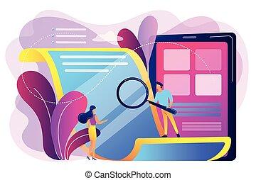 papier, concept, elektronisch, illustration., vector