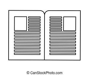 papier, documenten, pictogram