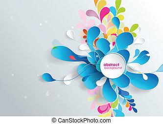 papier, flower., achtergrond, abstract