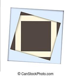 papier, frame, plein, witte achtergrond