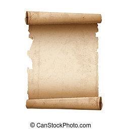 papier, illustratie, boekrol, oud, vector