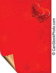 papier, valentijn, grunge, achtergrond