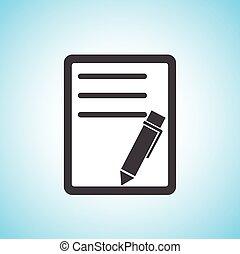 pen/paper, document, pictogram