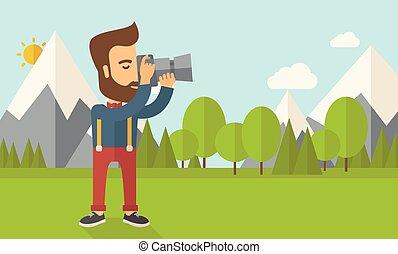 picture., boeiend, fotograaf