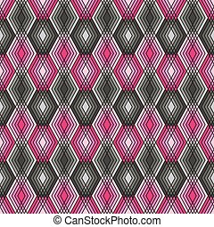 pink-grey, diamant knippatroon, schets