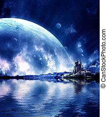 planeet, fantasie, landscape