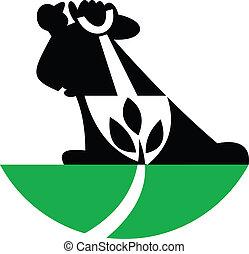 plant, schop, landscaper, graven, tuinman