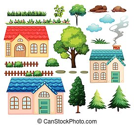 planten, huisen, anders