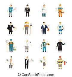 plat, karakter, pictogram