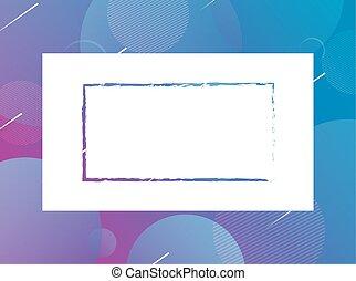 plein, blauwe achtergrond, vibrant, frame, kleuren