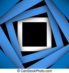 plein, blauwe , papier, achtergrond, frame