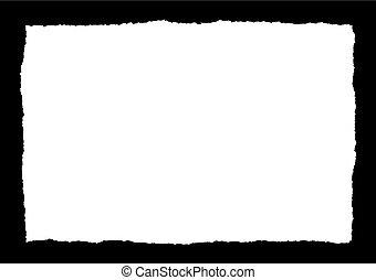 plein, gescheurd document, vector, zwarte achtergrond
