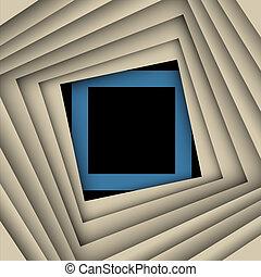plein, papier, achtergrond, vector, frame