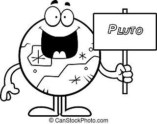 pluto, spotprent, meldingsbord