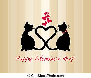 poezen, liefde, kaart, valentijn