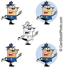 politie, het houden club, officier