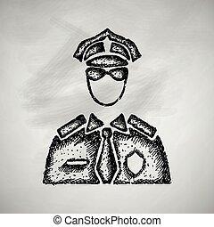 politieman, pictogram