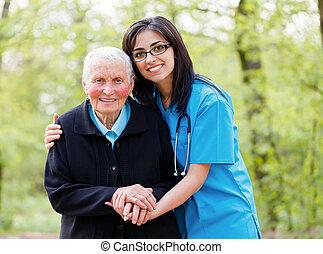 portie, peoplee, bejaarden