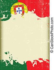 portugal, grunge, vlag