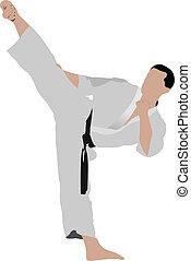 positio, karate., sportsman