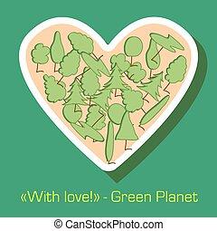 postkaart, milieubescherming, groene
