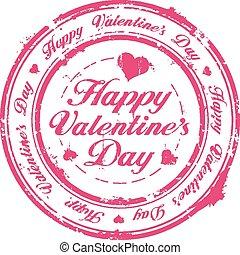 postzegel, vrolijke , dag, valentijn