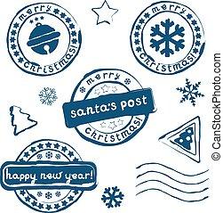 postzegels, kerstmis, verzameling
