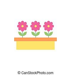 pot, tuin, mooi, bloemen