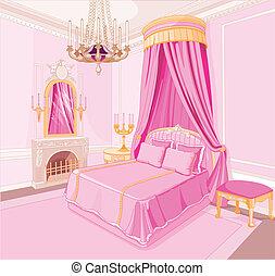 prinsesje, slaapkamer