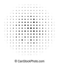 punten, pattern., half-tone, halftone, cirkels, monochroom