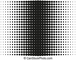 punten, vector, halftone, cirkels, illustration., pattern., overgang