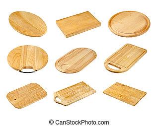 raad, gevarieerd, holle weg, houten