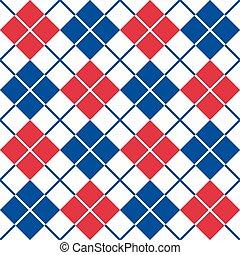red-white-blue, model, argyle