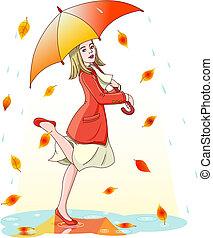 regen, dancing