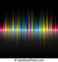regenboog, abstract, black , kleuren, achtergrond