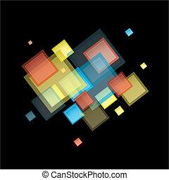 regenboog, abstract, plein