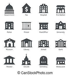 regering bouwt, iconen